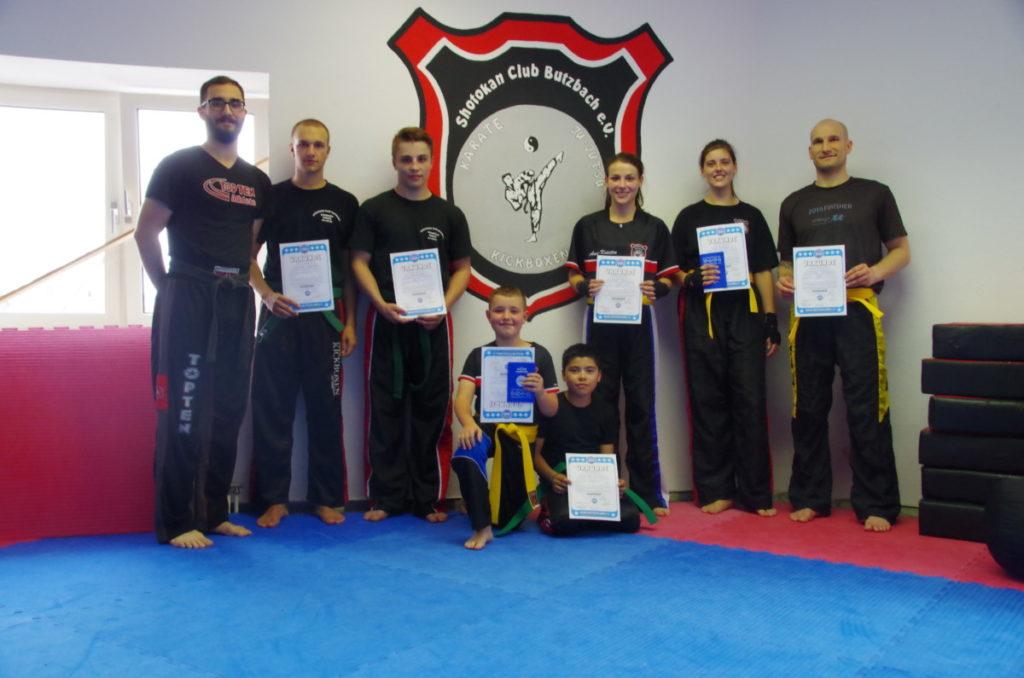 Erfolgreiche Gurtprüfung im Shotokan Club Butzbach